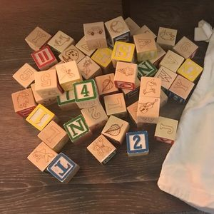 Melissa and Doug alphabet blocks